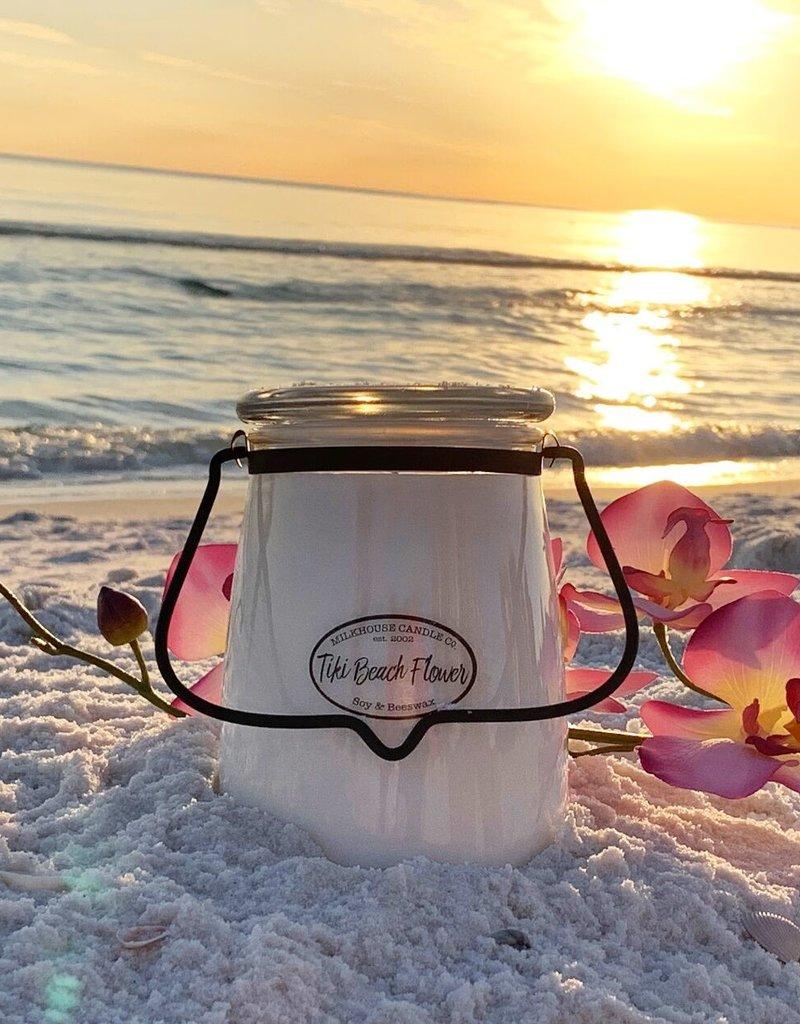 Butter Jar 22 oz Tiki Beach Flower