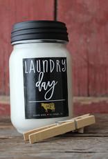 Farmhouse Mason Jar 13 oz Laundry Day