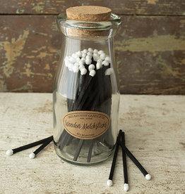 Wooden Matches in Milkbottle