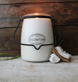 Butter Jar 22 oz White Driftwood and Coconut