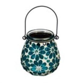 Mosaic Solar Lantern - Turquoise