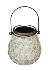Mosaic Solar Lantern - White