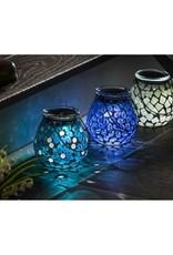 Mosaic Solar Lantern - Blue