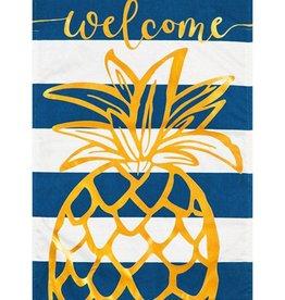 Pineapple Stripe House Linen Flag