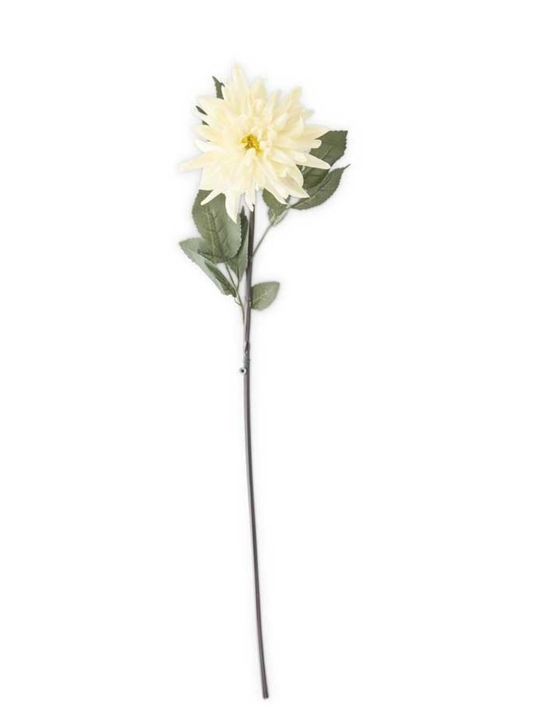 30 Inch White Real Touch Mum Stem