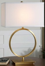 Uttermost Duara One Light Table Lamp in Brushed Brass