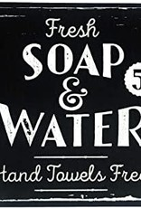 """Vintage """"Soap and Water"""" Sign (10"""" x 10"""")"""