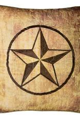 Wood Patch Dec Pillow Star