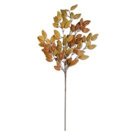 """35"""" Fall Golden Tones Leaf Stem"""