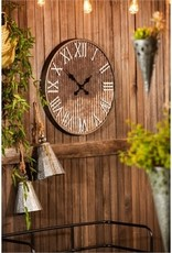 Silas Rusty Galvanized Wall Clock