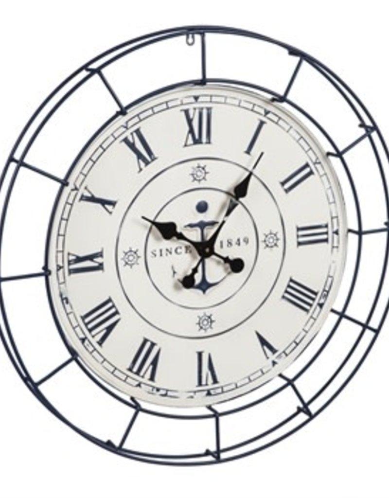 Nautical Metal Wall Clock