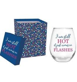 Stemless Wine Glass w/ Box, I Am Still Hot