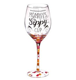 Wine Glass w/Box, 12 OZ., Mommy's Sippy Cup