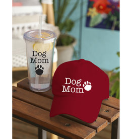 Tumbler with Straw and Cap, Dog Mom