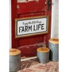 Farm Life Metal & Wood Wall Sign