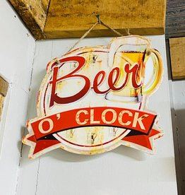 Beer O' Clock Metal Sign