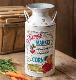 Farmers Market Milk Can