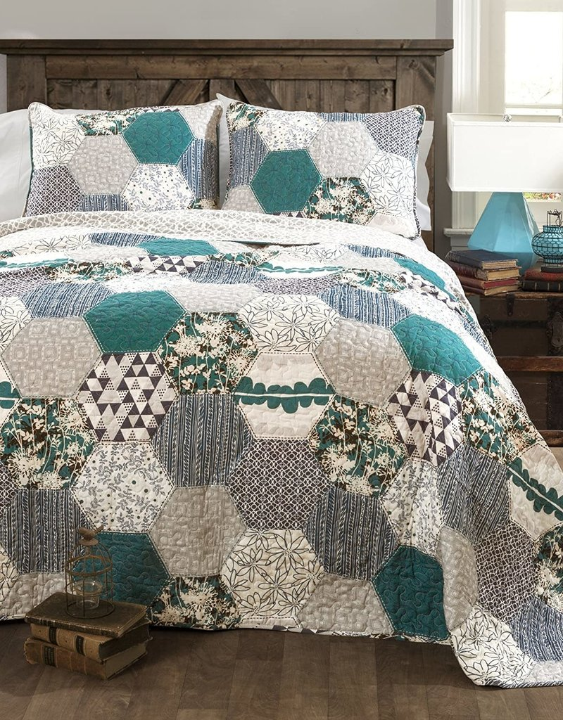 Briley 3 PC Quilt Set - King