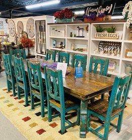10' Yugo Leg Dining Set - Turquoise