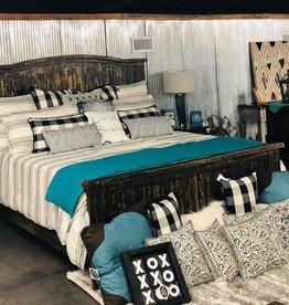 Villa King Bed Set- Corn laq/ white (no chest)