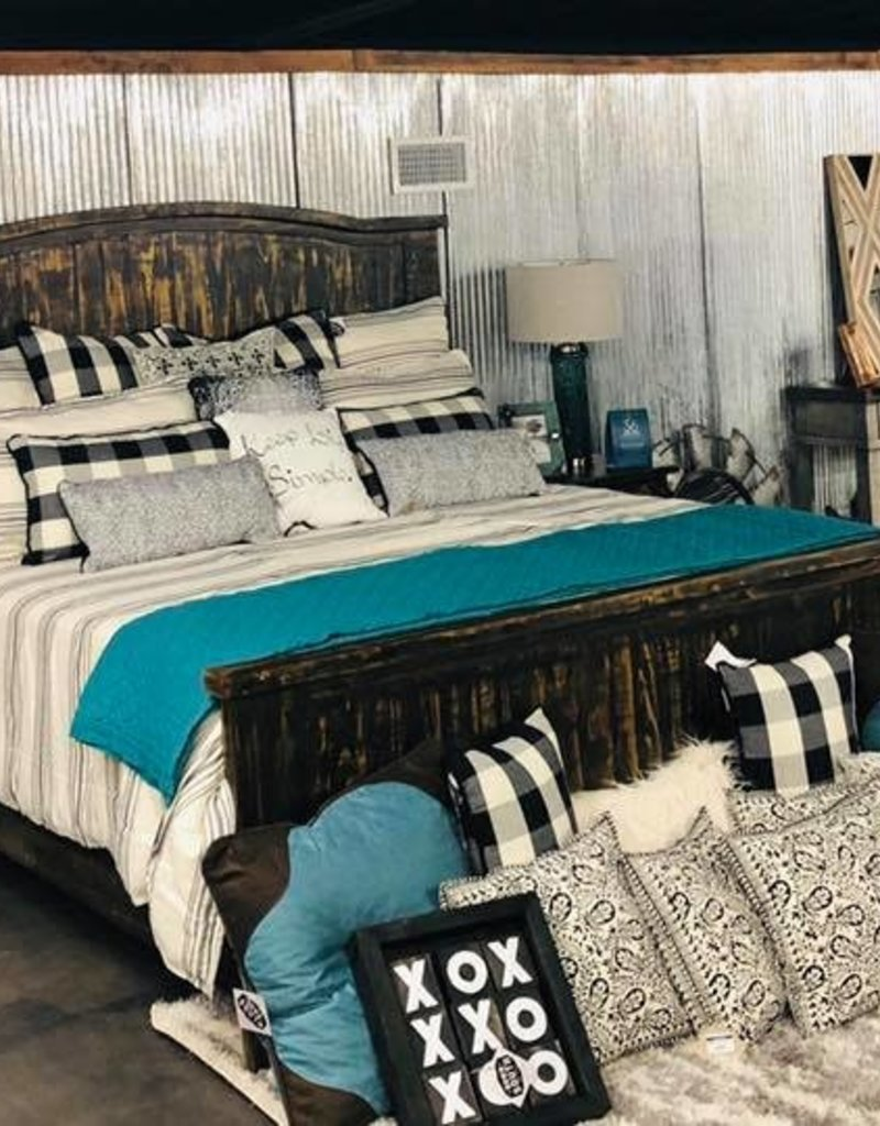 Villa King Bed Set- Distressed (no chest)