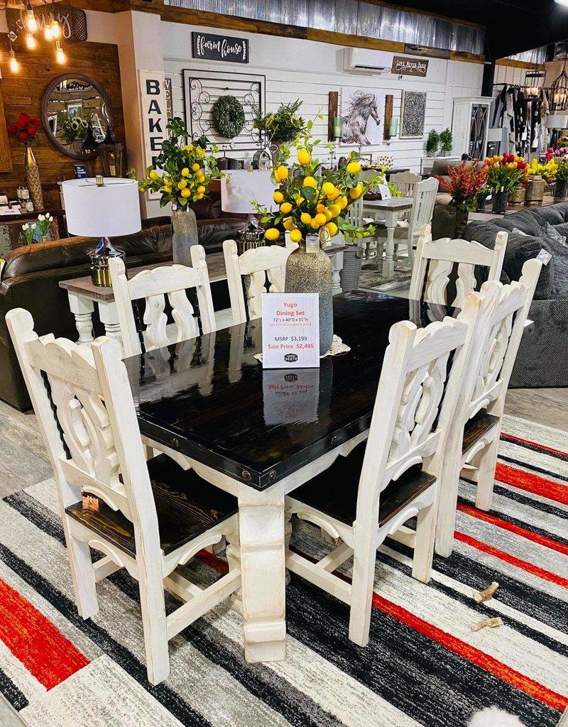 "72"" Yugo Leg Dining Set - White"