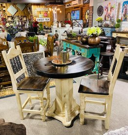 Counter Height Bistro Table w/2 Chairs - Cream