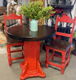 Counter Height Bistro Table w/2 Chairs - Red