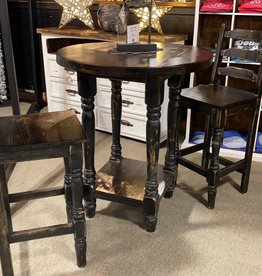 Round Bistro Table w/2 Chairs - Black