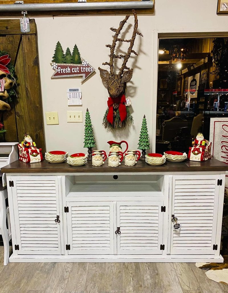 """Imperial 80"""" TV Stand - Distressed White"""