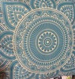 "18""x 18"" Linen Geometric Pillow - Turquoise"