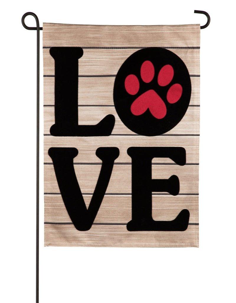 Pet LOVE Garden Linen Flag