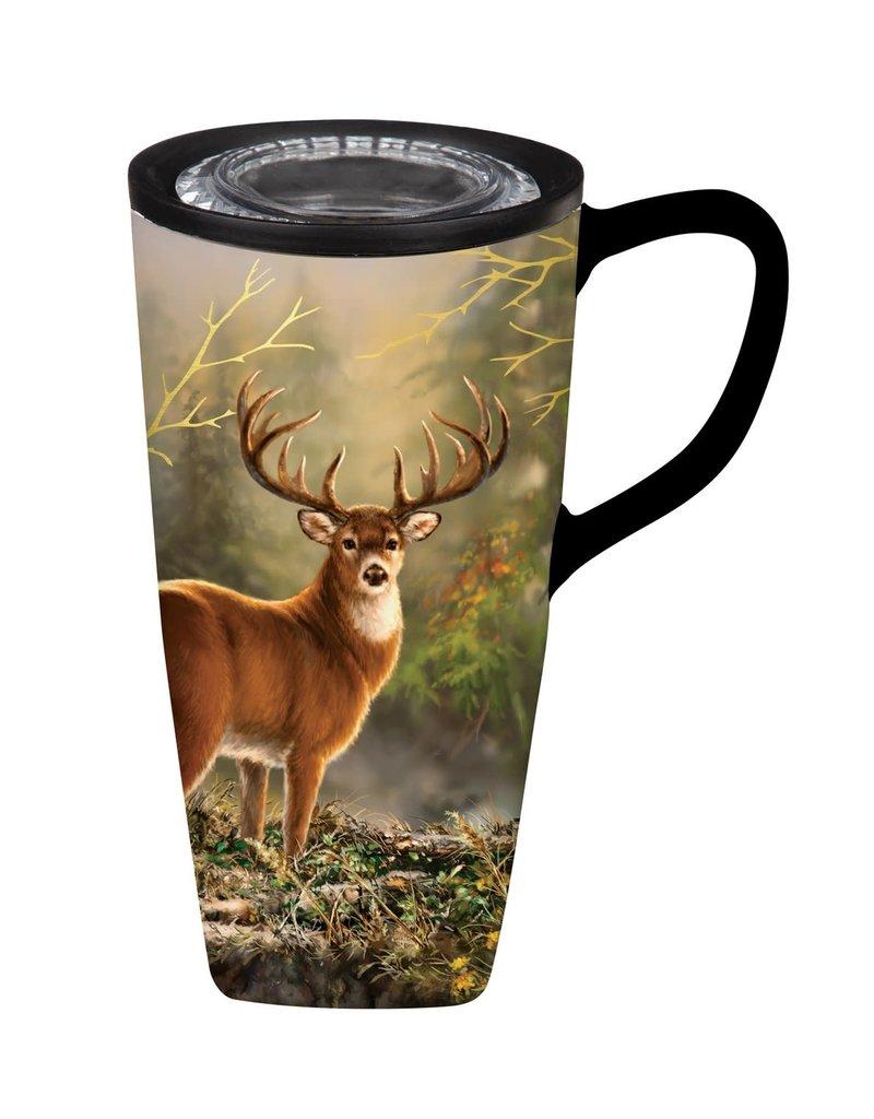 White Tail Flomo Ceramic Coffee Mug