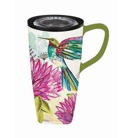 Bright Hummingbird  Flomo Ceramic Coffee Mug
