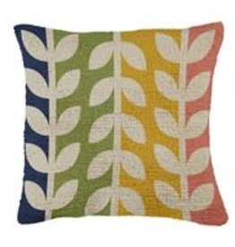 "Hooked Pillow 18""x18"" Rainbow Vine"
