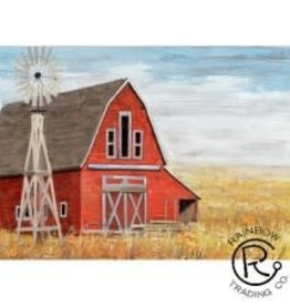 Red Barn W/ Windmill Canvas  28 X 40