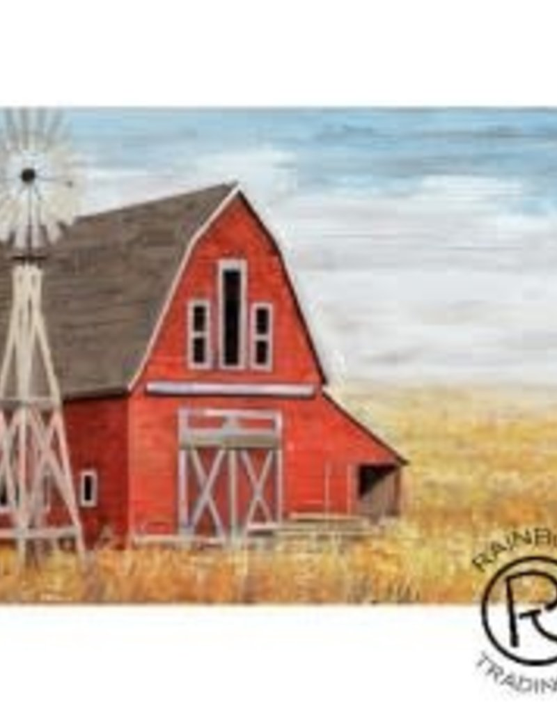 Red Barn W/ Windmill Canvas  28 X 40