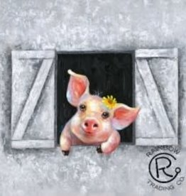 Piglet In The Barn 32 X 32