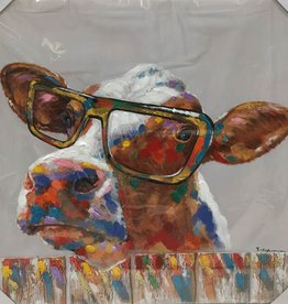 Cow With Glasses 36 x36