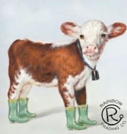 Calf  W/ Rainboots Canvas 28 X 28
