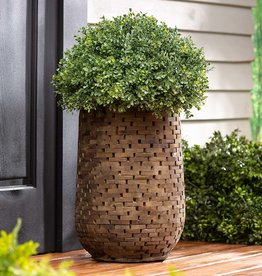 Mosaic Acacia Wood Planter - Large