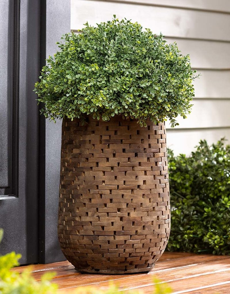 Mosaic Acacia Wood Planter - Large