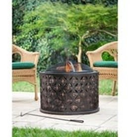 Cylinder Lattice fire pit