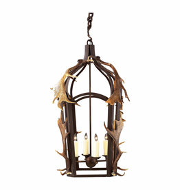 Small Band Lantern W/Antlers