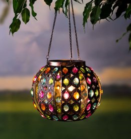 Jeweled Lighted Hanging Solar Globe