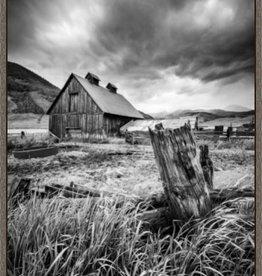 Stormy Barn in Barnwood Frame 18x27