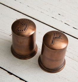 Copper Finish Salt and Pepper Shakers