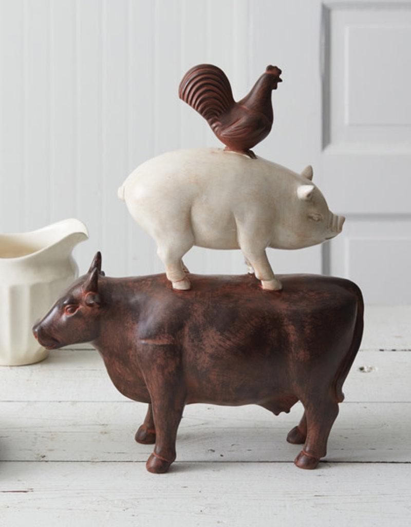 Stacked Animals Ranch Figurine