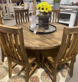 60'' Santa Rita Round Dining Table Set- Distressed