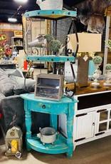 Corner Cabinet - Turquoise